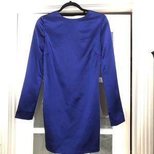 Helmut Lang Blue Satin Backless Dress